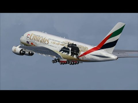 """Emirates A380 """"United for Wildlife"""" [A6-EDG] Taxi to Departure @ (AMS) Amsterdam"""