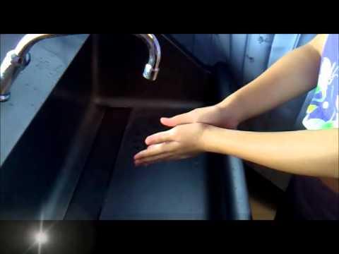 การสาธิตวิธีการล้างมือ 7 ขั้นตอน