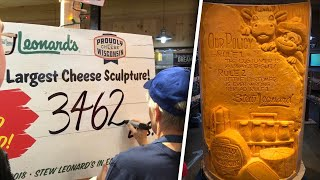 New York Store Aims to Break Record for World's Largest Cheese Sculpture