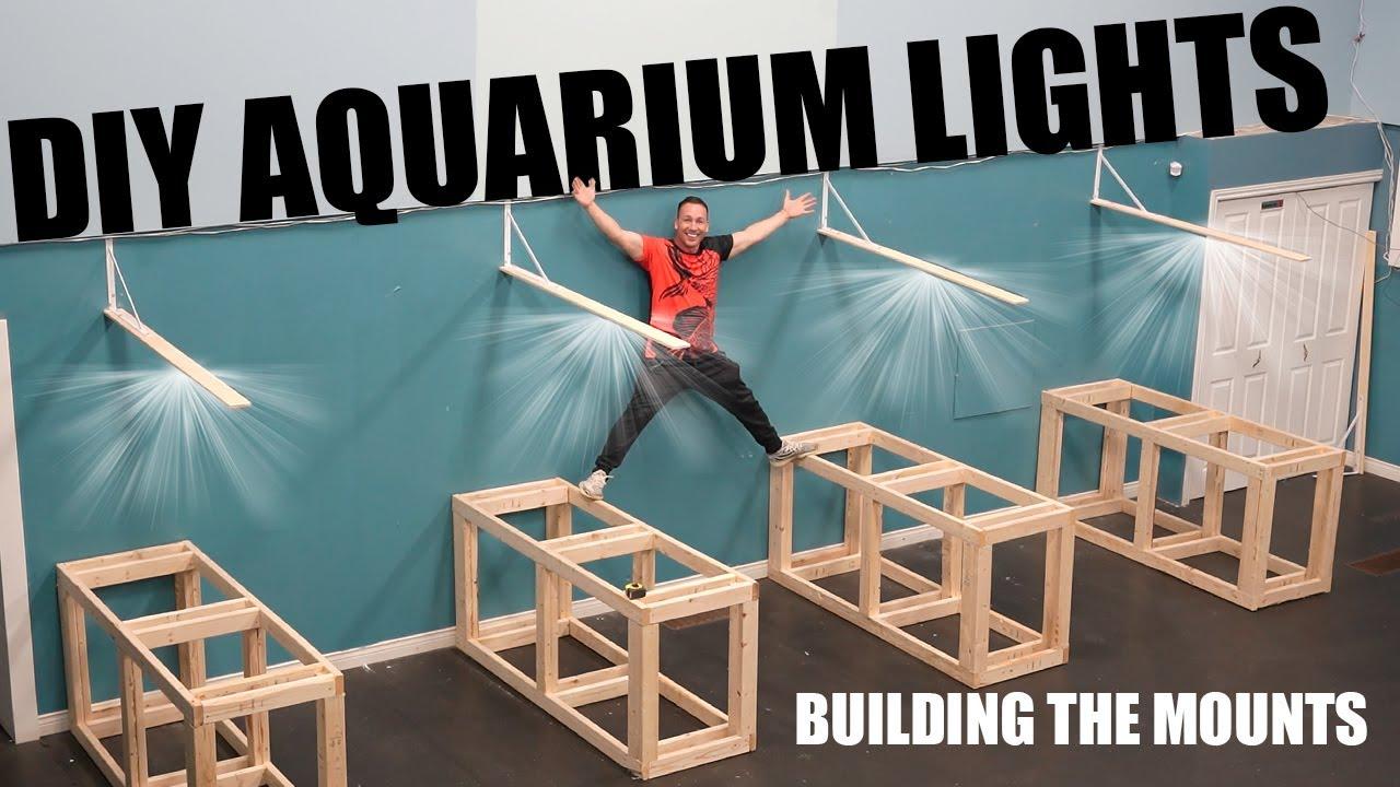 HOW TO: DIY aquarium light mounts