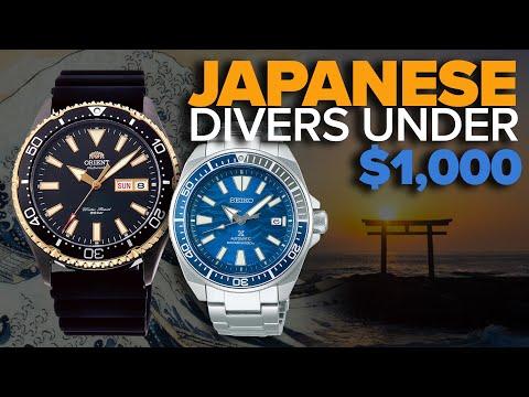 Japanese Diver Watches Under $1000 (Orient, Seiko, Citizen, Casio)