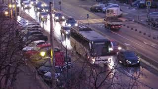 2019-01-28 Trafic pe Bulevardul Bucuresti ingreunat de un autobuz ramas in pana (3)