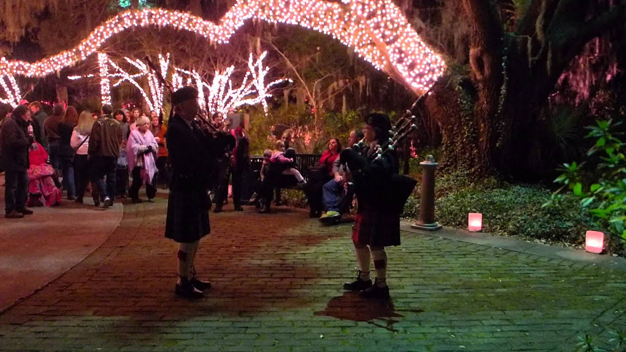 Bagpipers At Brookgreen Gardens Nights Of A Thousand Candles Youtube