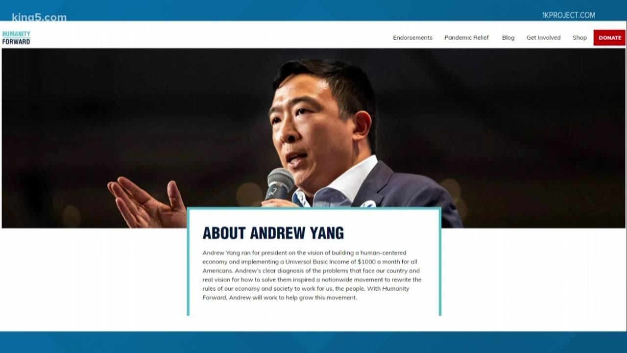 Andrew Yang backs Seattle-based 1K Project to offer COVID-19 relief