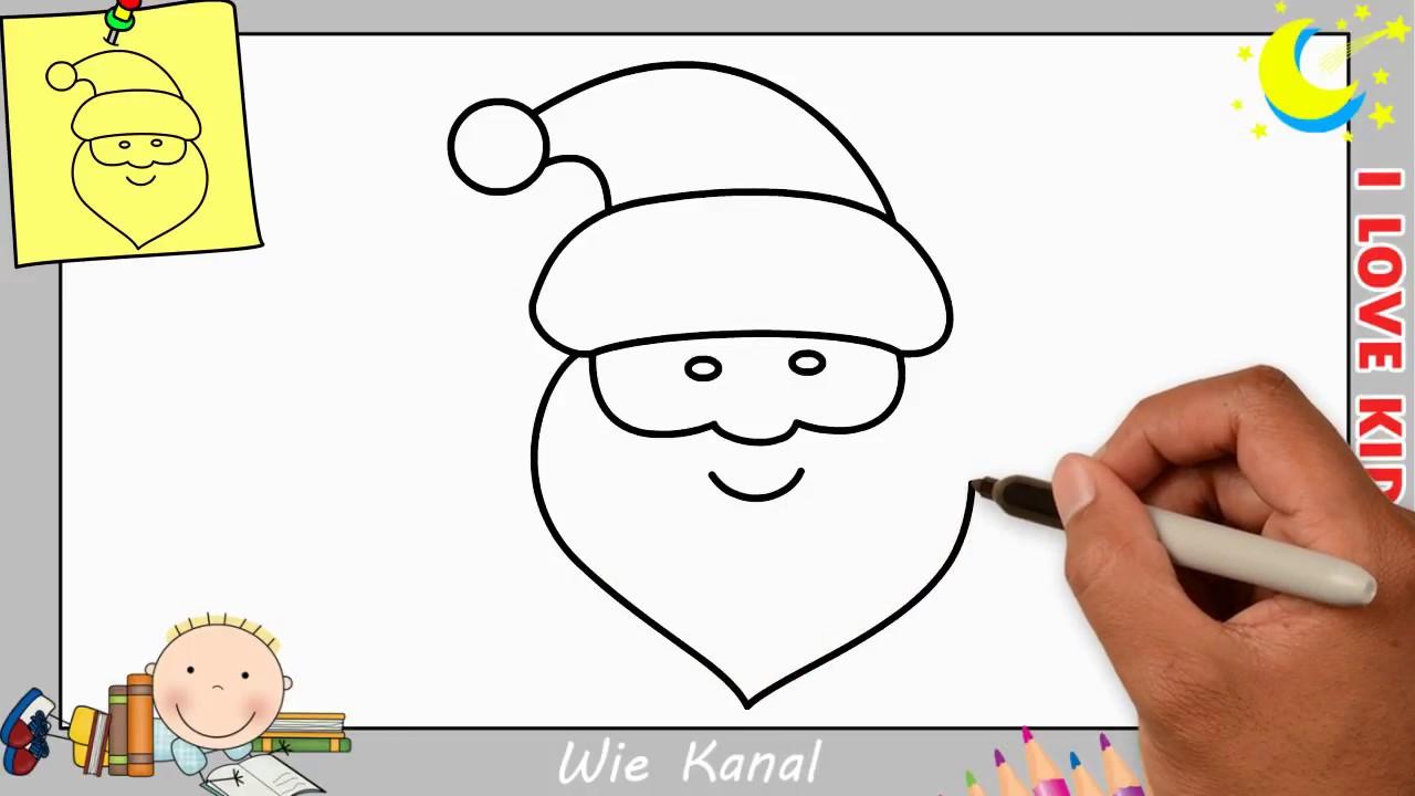 weihnachtsmann zeichnen lernen einfach schritt f r schritt 3 weihnachten youtube. Black Bedroom Furniture Sets. Home Design Ideas