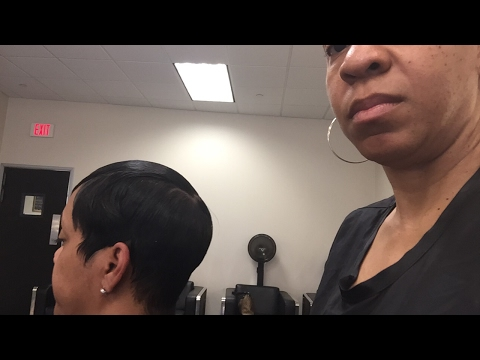 The Halle Berry Look |Flat Irons| Short Hair| Dallas|