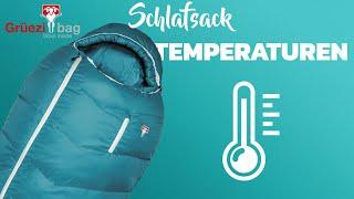 Was bedeuten die Temperaturangaben auf deinem Schlafsack? - Schulungsvideo von Grüezi bag
