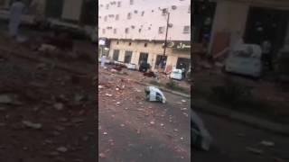 #عاجل .. بالفيديو والصور.. وفاة رضيع وإصابة 9 في انفجار شقة بخميس مشيط
