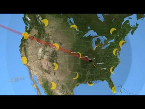2017 Total Solar Eclipse's Path Across The U.S.