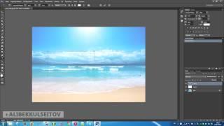 Adobe Photoshop - Прозрачный текст на картинке