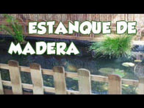 Estanque de madera de 1200 l con bomba solar y filtro for Filtro para estanque pequeno