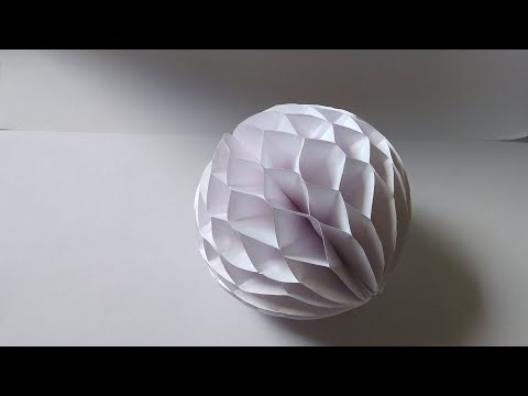 How to make: Easy Paper Honeycomb Ball | Dinesh Arts