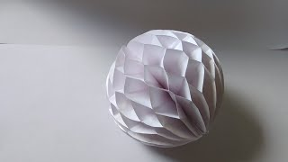 How to make : Easy Paper Honeycomb Ball | Dinesh Arts