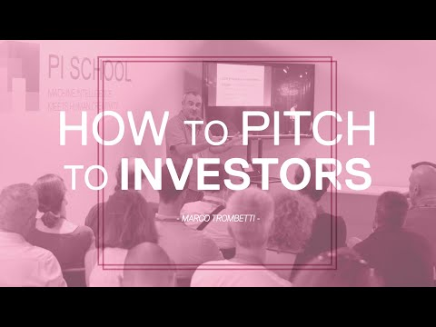 How to pitch to investors – Marco Trombetti