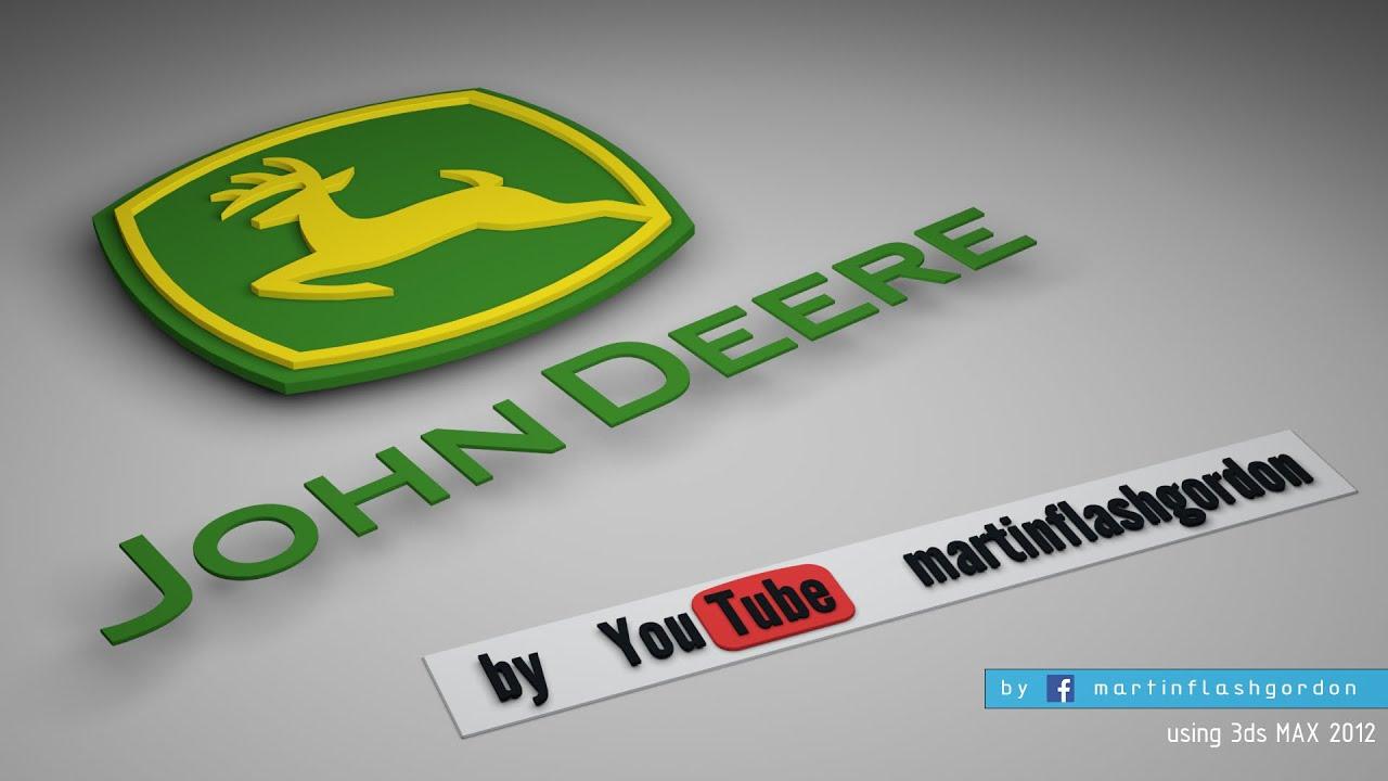 John Deere 3d Logo Timelapse In Autodesk 3ds Max Youtube