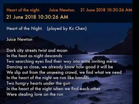 Heart Of The Night.       Juice Newton.    21 June 2018 10:30:26 AM