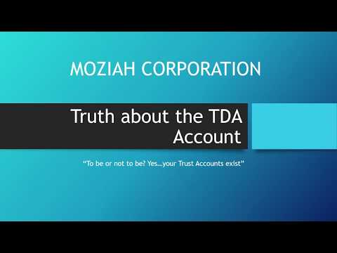 FINALLY! The Truth about the TDA Account, They Do Exist, However....