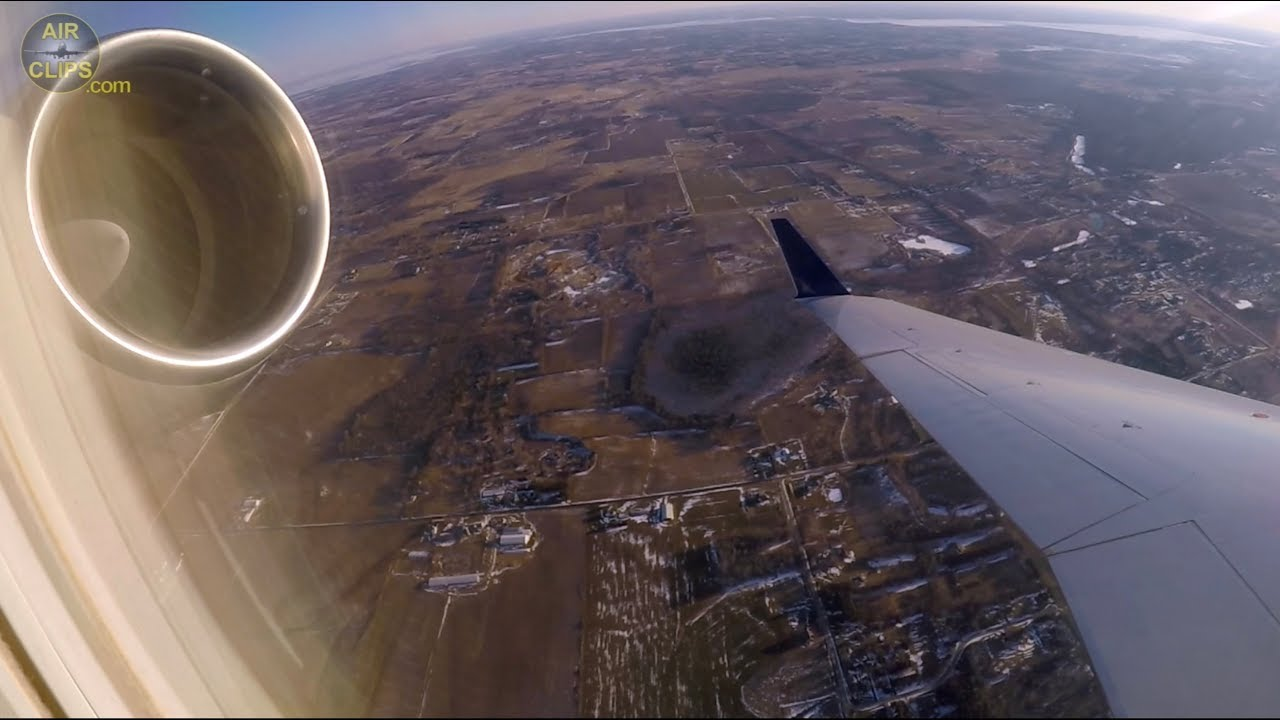 BEAUTIFUL SCREAMY Delta Airlines Bombardier CRJ-200 Takeoff from Appleton  to Minneapolis [AirClips]
