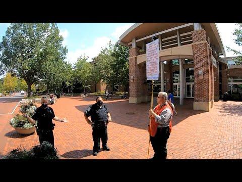"""YOU MUST WEAR MASKS!"" - Police Officer @ Penn State University - Street Preaching - Kerrigan Skelly"