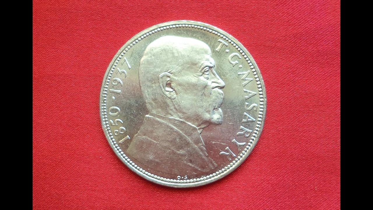 Czechoslovakia 20 KORUN 1937 Death of President Masaryk (Чехословакия 20  крон 1937 Смерть Мосарика)