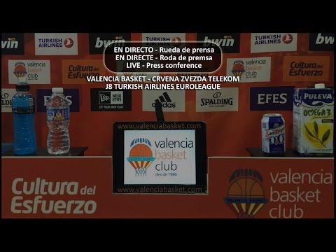 RP // Press conference. Valencia Basket - Crvena Zvezda Telekom