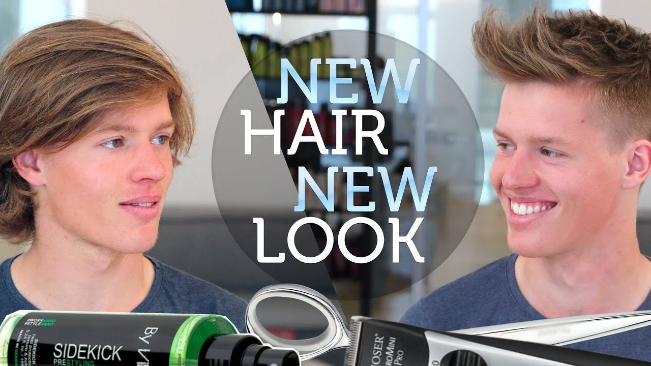 New Hair New Look Mens Long To Short Hair Transformation Youtube
