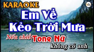 Em Về Kẻo Trời Mưa - KARAOKE [Tone Nữ] | Beat Hay