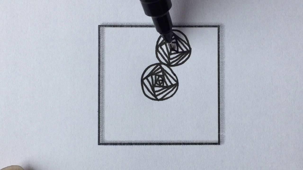 Zentangle Pattern 1 Rose Youtube