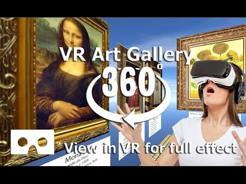 360 Video - Art Gallery Video  -  4K Virtual reality video, use VR Headset for best effect
