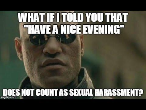 I pimp White Boys Sexual Harassment claim Reaction