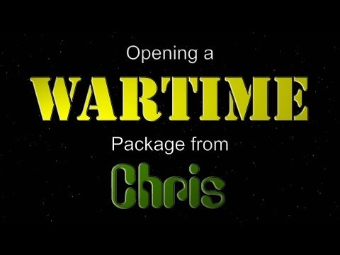 Opening a WARTIME Package from Chris!