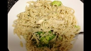 Weight Watchers Friendly Dinner Recipe - Cheesy Broccoli And Chicken Alfredo! 5 Point Meal!