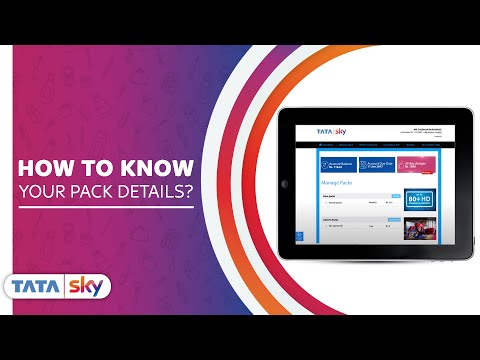 Tata Sky | DIY - How To Know Your Pack Details?