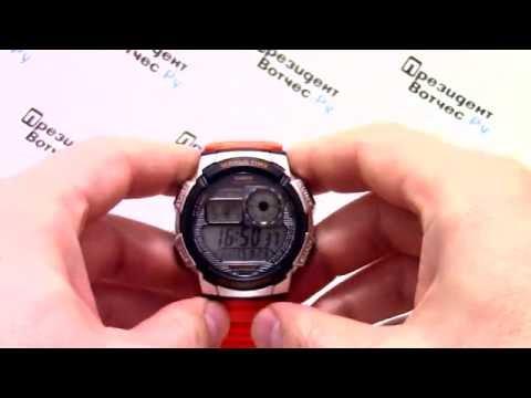 Часы Casio Illuminator AE-1000W-4B - видео обзор + инструкция по настройке от PresidentWatches.Ru