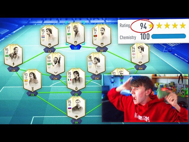 194 RATED!! - FIFA 19 FULL ICON 194 FUT DRAFT CHALLENGE