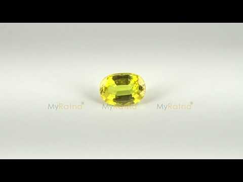 Natural Yellow Sapphire (Pukhraj) Gemstone 3.8 Carat from Bangkok