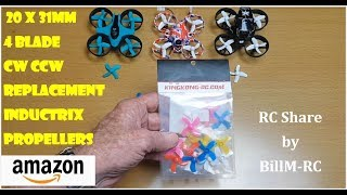 Propellers for Tiny Whoop & Inductrix Quadcopter Drones