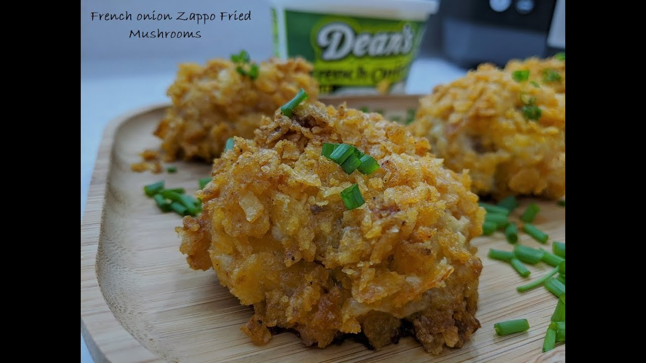 CRUNCHY FRENCH ONION DIP FRIED MUSHROOMS AIR FRYER