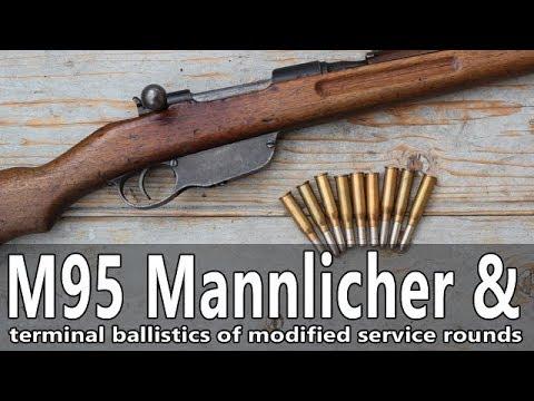 Mannlicher M95 8x50R rifle ballistic gelatine tests