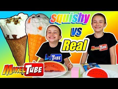 Squishy vs Real Food Challenge con Mikel y Leo