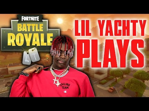 Lil Yachty Plays Fortnite Battle Royale For The First Time! - Lil Yachty Stream Highlights
