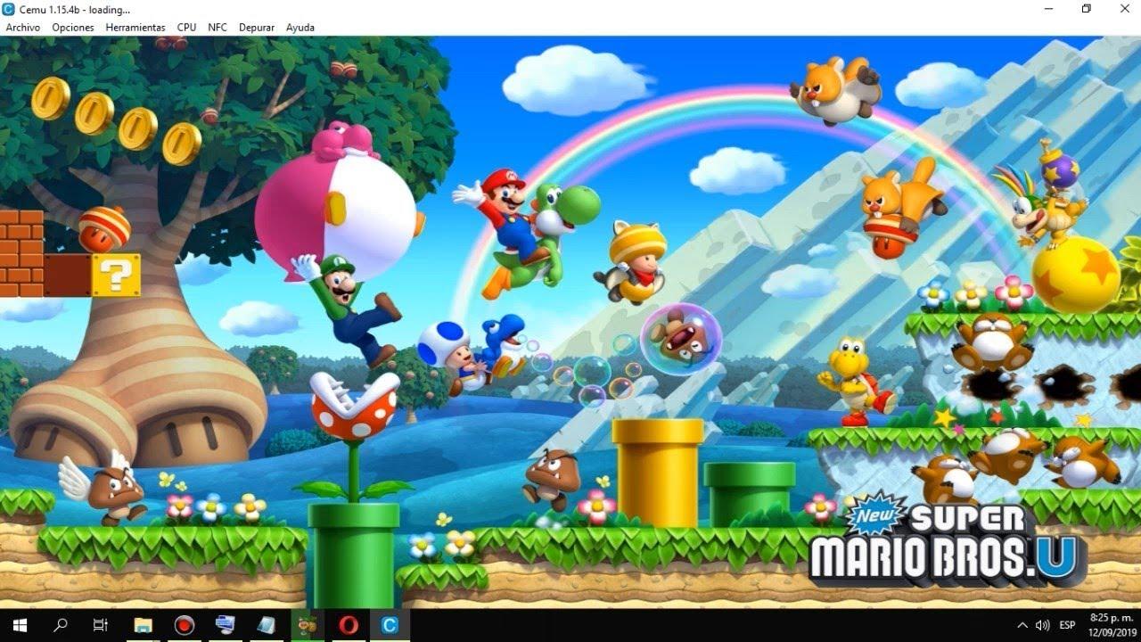 New Super Mario Bros Wii U Gameplay Pc Emulado Cemu