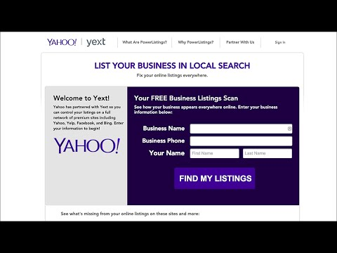 How to Claim A Free Local Business Listing On Yahoo