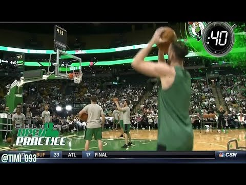 Boston Celtics 2017 Open Practice Highlights: 3-point Contest