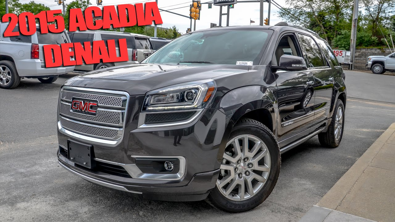 2015 gmc acadia denali quick look youtube. Black Bedroom Furniture Sets. Home Design Ideas