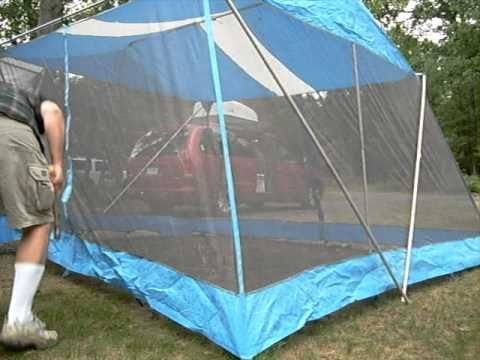 How to put up a screen tent in under a minute & How to put up a screen tent in under a minute - YouTube
