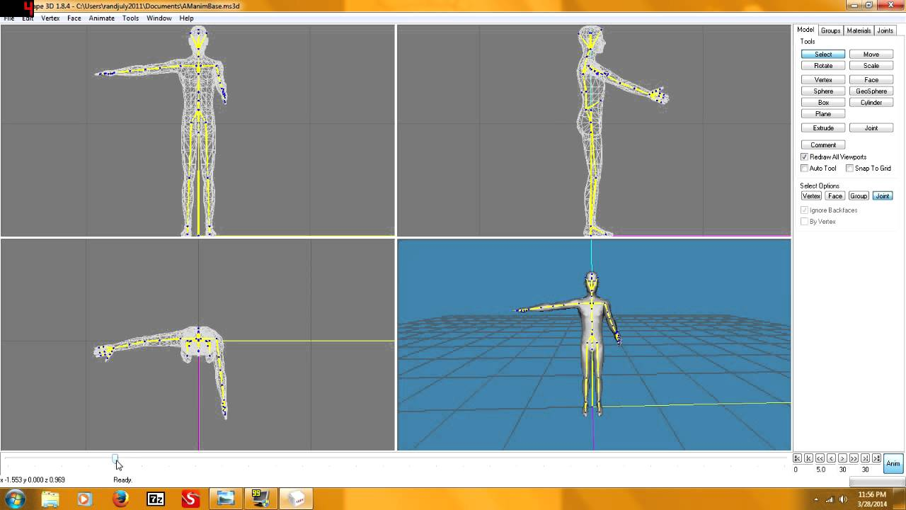 Milkshape 3d: animation tutorial youtube.