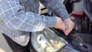 Как Снять Переднюю Фару Renault Scenic Ii