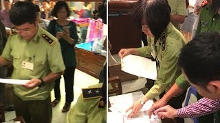 Thanh tra cửa hàng Khaisilk và kết quả | KHẢI SILK thừa nhận 50% khăn lụa là hàng Trung Quốc