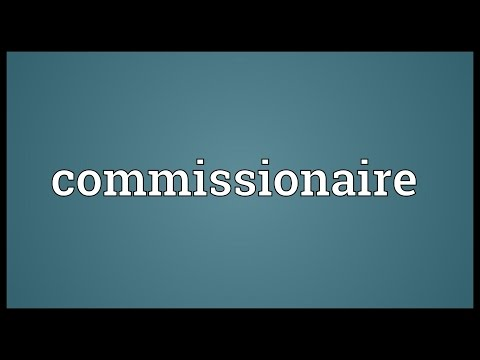 Header of commissionaire